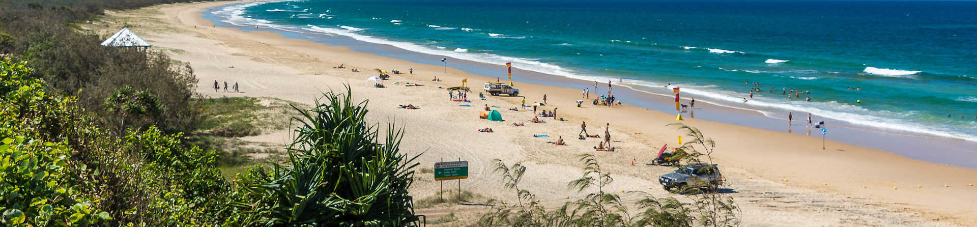 What is at Rainbow Beach?